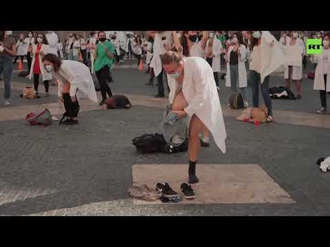 """Proteste al medicilor în Spania.""""Ne lăsaţi în pielea goală!"""""""
