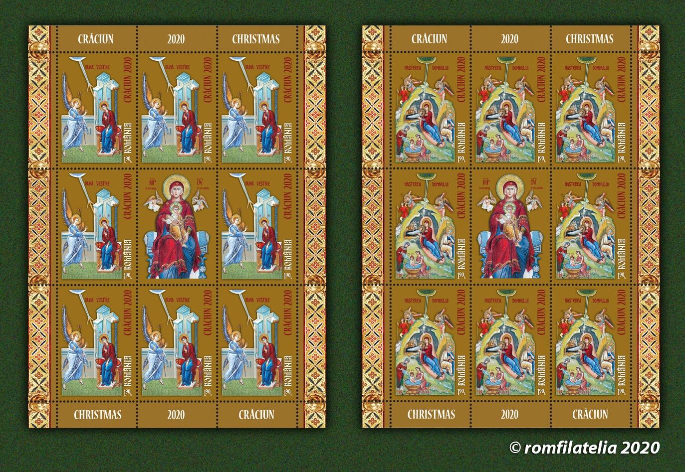 """Icoane de pe catapeteasma Catedralei Naţionale, reproduse pe mărcile poştale """"Crăciun 2020"""" ~ InfoPrut"""
