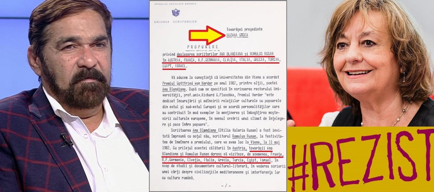 Jurnalistul Ion Spânu o dezbracă de disidență pe Ana Blandiana. Tovarășa Suzana Gâdea și Documentul care face praf falsa opoziție anticomunistă a #rezistentei de azi