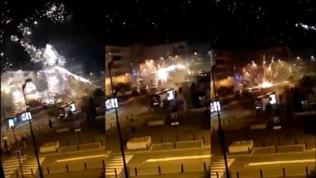 40 de persoane au atacat cu artificii pe post de mortiere o secție de poliție dintr-o suburbie a Parisului