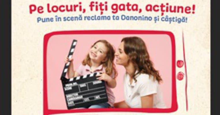 Pe locuri, fiți gata, acțiune! Pune în scenă reclama ta Danonino și câștigă!