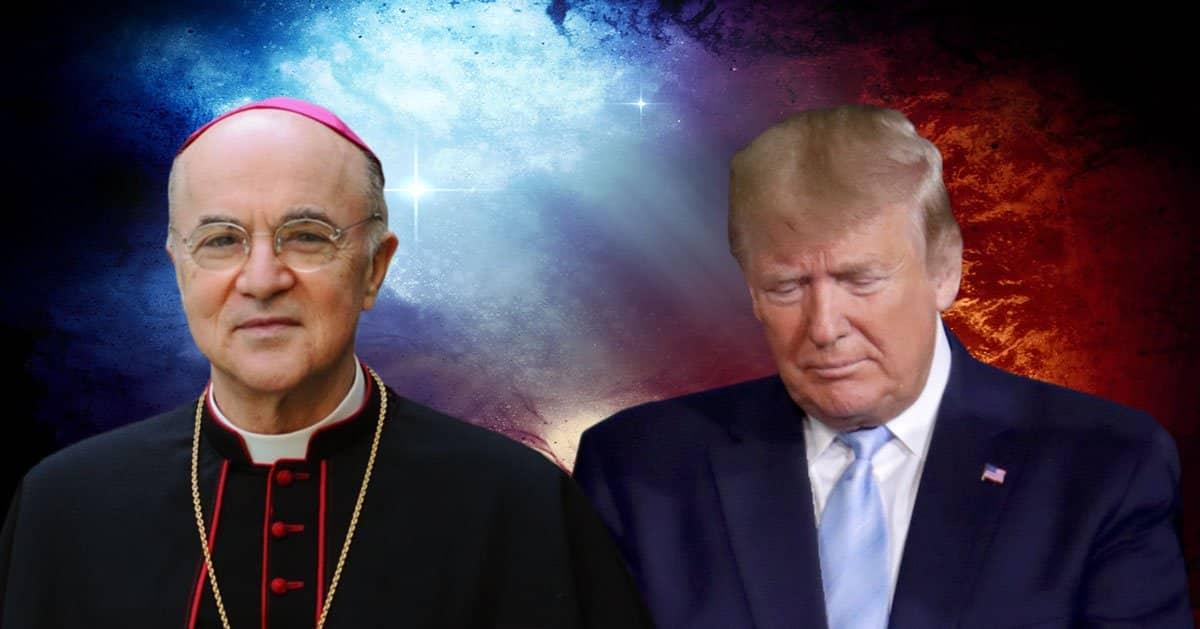 """Arhiepiscopul Vigano, fostul Nunțiu Papal la Washington intervine pentru Trump: America se află în mijlocul unei """"fraude electorale colosale"""". """"Trebuie să ne rugăm ACUM pentru o înfrângere umilitoare a forțelor răului"""""""