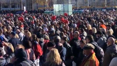 Protest antimască în Germania: peste 20 000