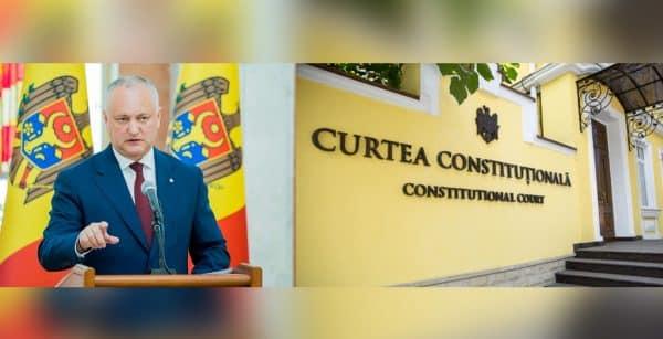 Dodon trece peste capul Curții Constituționale