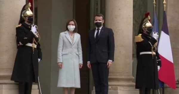 Maia Sandu, întâlnire tête-à-tête cu președintele francez Emmanuel Macron. Despre ce au vorbit cei doi