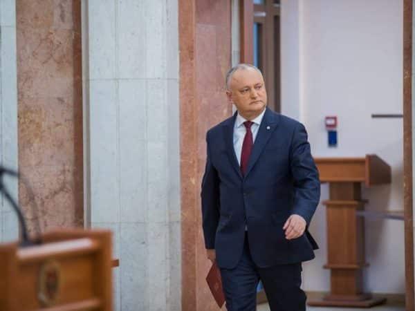 Dodon, decizie finală cu privire la votul pentru Guvernul Gavrilița
