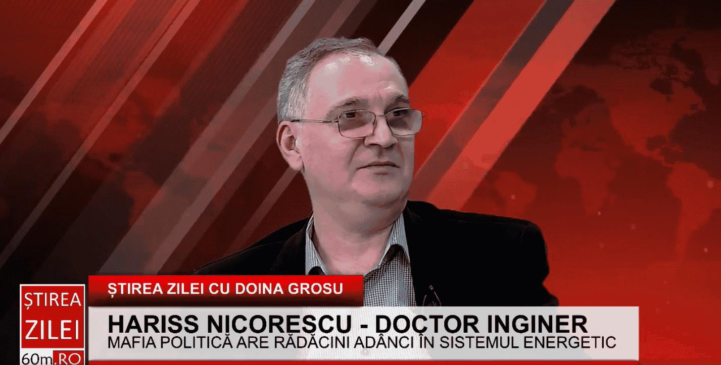 """Hariss Nicorescu – inginer: """"Numirea persoanelor politice în vârful Transelectrica pune în pericol sectorul energetic"""""""