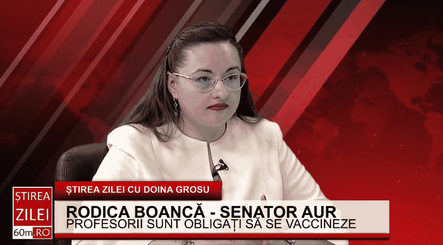 """Rodica Boancă(AUR): """"Domnul Cîțu și doamna ministru Mihăilă îmi recomandă să îmi vaccinez copilul, fără ca ei să aibă studiile necesare în privința asta. România nu mai are specialiști?"""""""