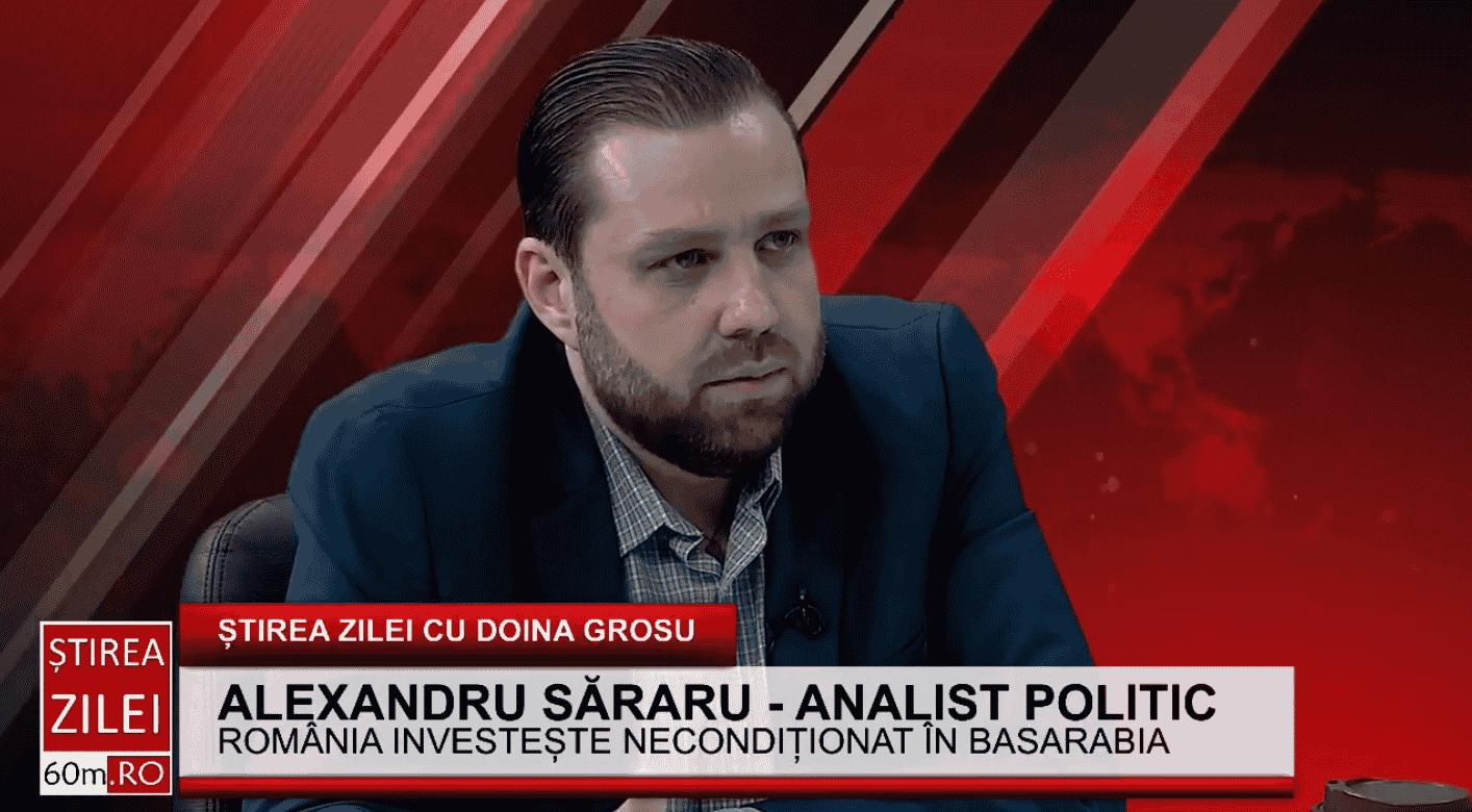 """Alexandru Săraru – analist politic: """"Moldova are un popor de AUR, dar nu are conducători la nivelul acestui popor"""""""