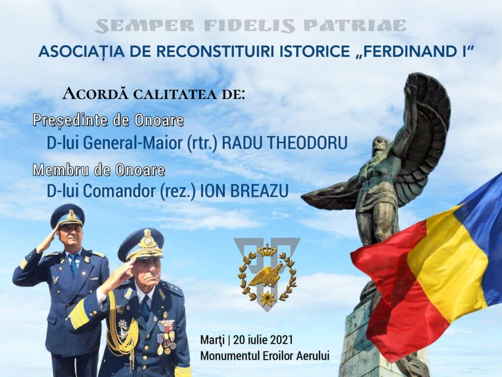 """Generalul Radu Theodoru, legenda armatei române, Președinte de onoare al Asociației de Reconstituiri Istorice """"Ferdinand I"""""""