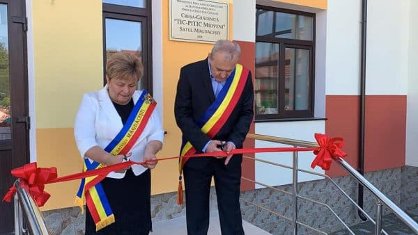 Înfrățirea face puterea: Cum arată noua creșă-grădiniță din Măgdăcești datorită sprijinului oferit de o localitate din România