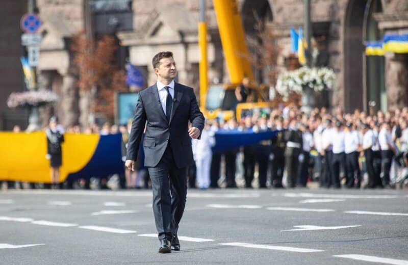 VIDEO UCRAINA: Paradă militară somptuoasă la Kiev de Ziua Independenței