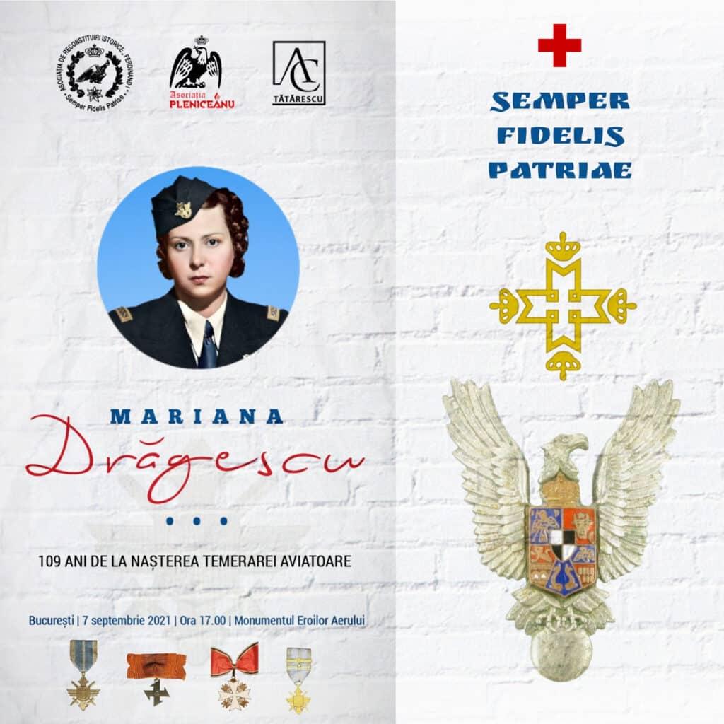 109 ani de la nașterea aviatoarei Mariana Drăgescu, temerară a Escadrilei Albe, în timpul celui de-al Doilea Război Mondial.