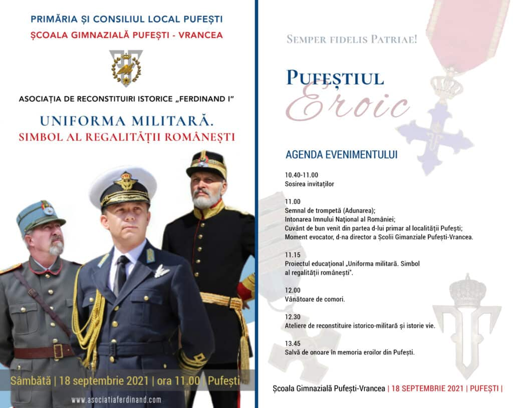 """Proiectul """"Reconstituirea istorică, educație alternativă pentru cunoașterea trecutului"""", la Școala din Pufești, Vrancea"""