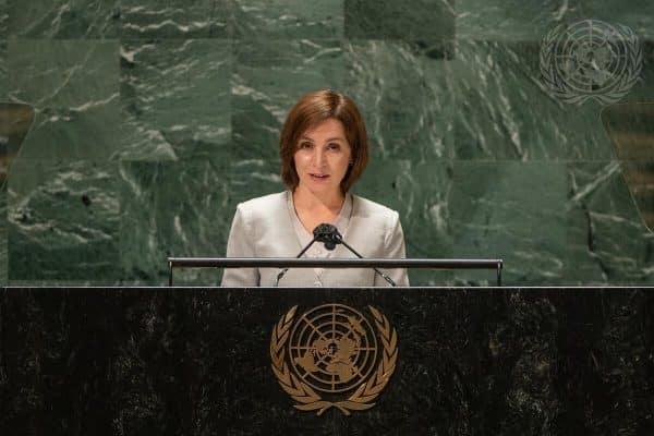 Maia Sandu, la Adunarea Generală a ONU: Poziția noastră cu privire la retragerea completă și necondiționată a forțelor ruse de pe teritoriul R. Moldova rămâne neschimbată