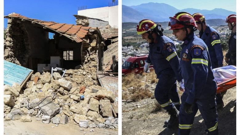 Primele imagini după seismul de pe insula Creta. Mai multe persoane au fost rănite – 60m.ro